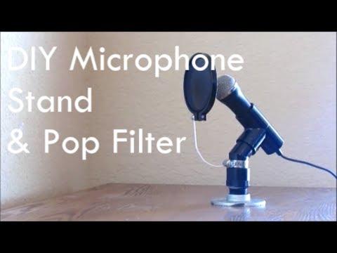 DIY Microphone and Pop Filter - Nerd Builds