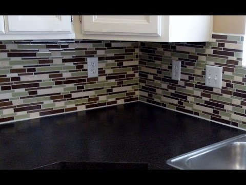 How to install a glass tile backsplash REAL DIY TIPS