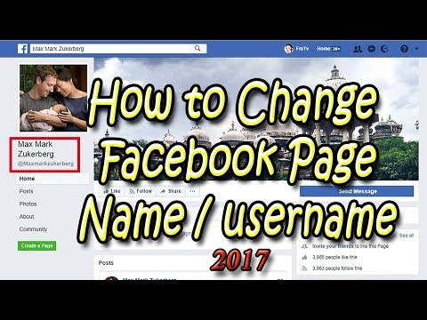 How to Change Facebook Page Name URL and Username 2017 tips