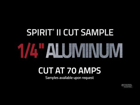 "Spirit® II Plasma Cut Sample, 1/4"" Aluminum Cut at 70 AMPS"