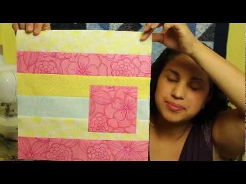 How to make a Modern Strip Block- Block#10 of 12- Video Quilt Along