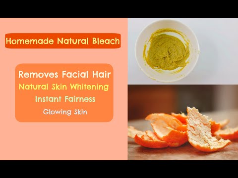 Homemade Natural Bleach to Remove Facial Hair | Skin Whitening Home Remedies