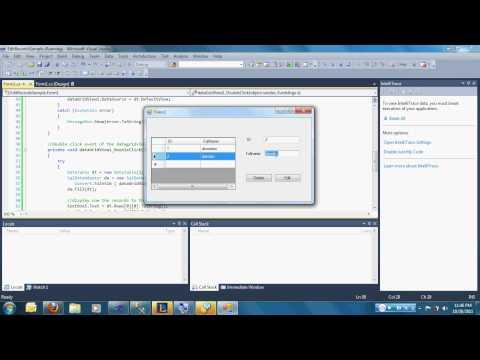 Edit and Delete using C# and SQL SERVER 2005.avi