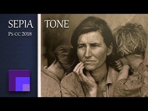 Make Sepia Tone Photographs Digitally in Photoshop CC 2018  | Photographic Toning Effects