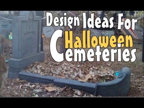 Halloween Decoration Ideas & Inspirations: Moving Graves & Creepy Fence Props