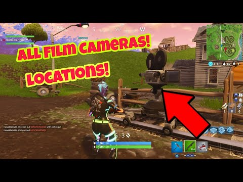 ALL FILM CAMERAS LOCATIONS FORTNITE (DANCE IN FRONT OF DIFFERENT FILM CAMERAS)