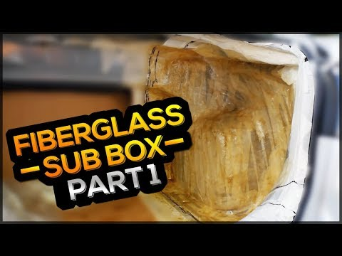 FIBERGLASS CUSTOM SUBWOOFER BOX MAZDA 3 - [PART 1]