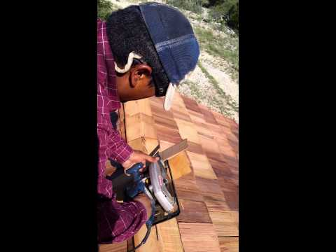 Installing  wood shingles part2