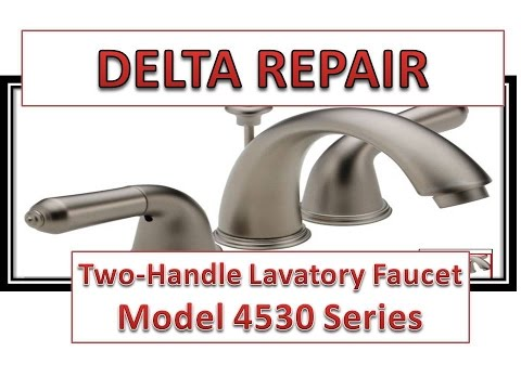 How To Fix Leaky Bathroom Handle | Delta Faucet Model 4530 Series | Hard Water