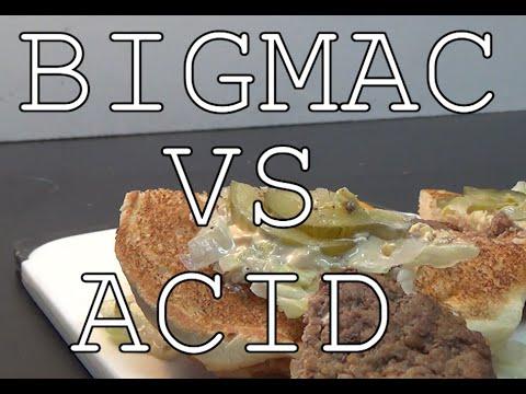 McDonalds Big Mac vs Acid
