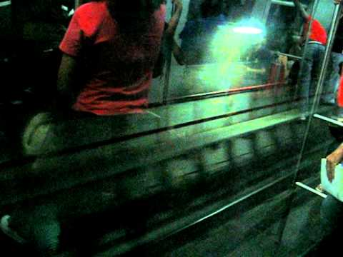 Riding the Brasilia Subway. Arriving at Galeria station