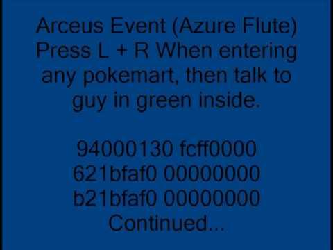 Pokemon Platinum Action Replay Codes
