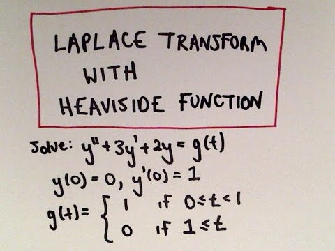 Differential Equation Using Laplace Transform + Heaviside Functions
