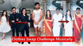 Clothes Swap Challenge Musically   Awez Darbar, Anam Darbar   Musically Compilation 2018