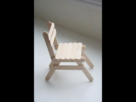 DIY Chair Made Out Of Popsicle Sticks - Dollhouse Miniatures