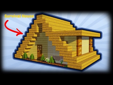 Minecraft - How To Build A Small A-Frame House Tutorial (Easy Survival Minecraft House )