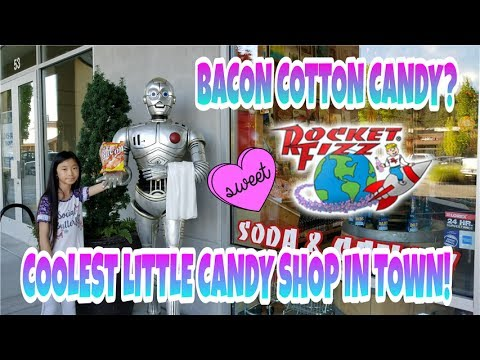 TRYING BACON COTTON CANDY? HARRY POTTER CHOCOLATE FROG? CHOCOLATE DIPPED INSECTS? ROCKET FIZZ!!!