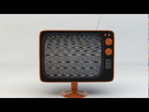 Retro TV Model Animation