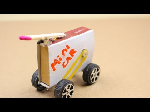 How to make a Powered Car From MATCH BOX - Diy Electric Mini car [Mr h2]