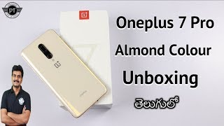 Oneplus 7 Pro Almond Colour Unboxing ll in Telugu ll