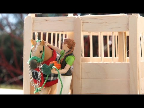 Schleich Horse (Sliding Door) Stall ~ Tutorial