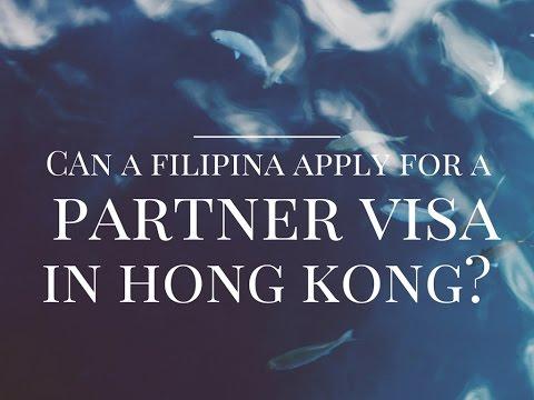 Can a Filipina apply for a partner visa in Hong Kong?
