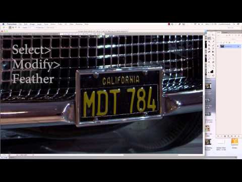 Photoshop Tutorial - How To Remove Logos and License Plate Numbers