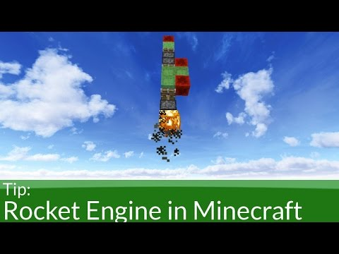 How To Build a Rocket Engine in Minecraft