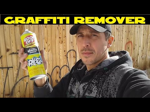 How to remove Graffiti easy with GOO OFF