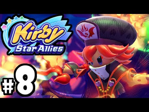 Kirby Star Allies - 2 Player Co-Op! - Nintendo Switch Gameplay Walkthrough PART 8: Jambastion Bosses