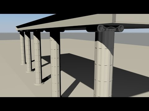 Maya 2014 tutorial: How to model a Greek column