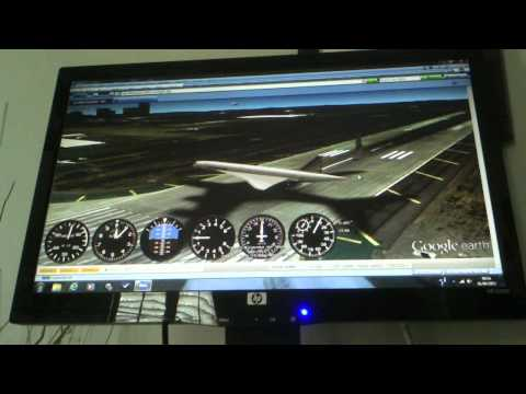 Google Earth Flight Simulator Test
