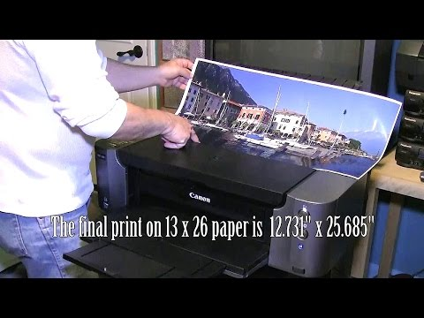 Here is how you can print 26 inch long Panoramas on the Canon Pixma PRO-100