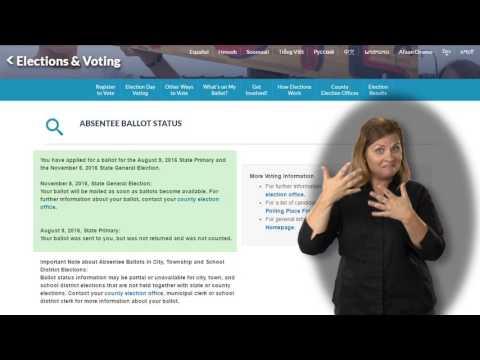 Check on Your Absentee Ballot's Status (ASL / English)