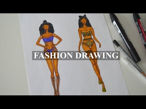FASHION DRAWING | My Victoria's Secret Lace & Crystal Lingerie Set