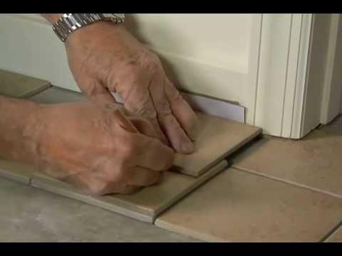 How to Fit Tile Around Door Casings & Jambs