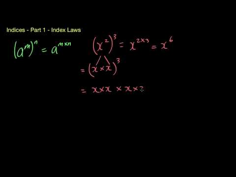 Indices/Exponents - Part 1 - The index laws.