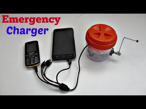 How to Make an Emergency Mobile Phone Multi Pin Charger Using DC Motor