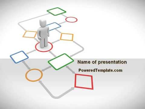 Flowchart PowerPoint Template by PoweredTemplate.com