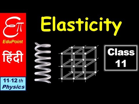 Elasticity || in HINDI for Class 11