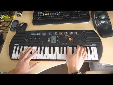 Demo Piano Mini Keyboard Casio SA-76