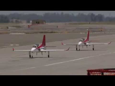 Two RC Viper Jets flying formation