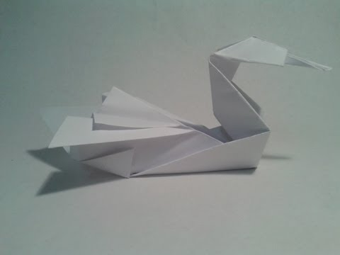 Origami - How to make an easy swan