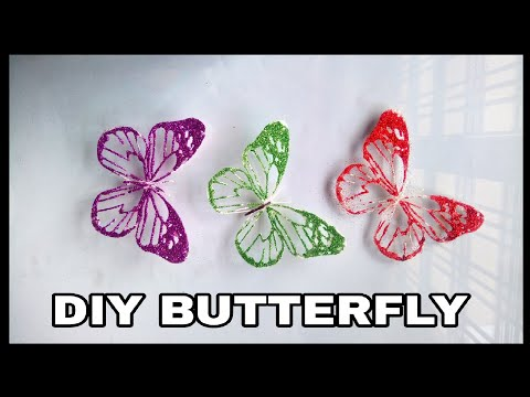 Diy unique Butterfly || Simple diy butterfly || Room decoration craft