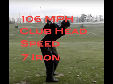 Amazing Speed| 106 club head speed with a 7 iron
