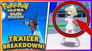 Pokémon Ultra Sun & Ultra Moon - TRAILER BREAKDOWN (NEW MANTINE RIDE + LILLIE IS A TRAINER?!)