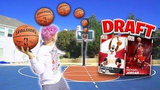 CRAZY BASKETBALL CHALLENGES DRAFT NBA 2K19