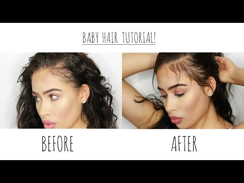 Baby Hair | Lay Your Edges | NO GEL Heatless Tutorial