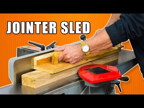 Make a Edge Jointing Sled Jig / Edge Jointer Safety Push Block