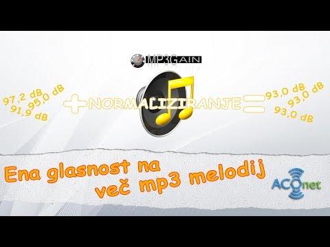Nastavi enako glasnost večim mp3 datotekam hkrati s MP3Gain